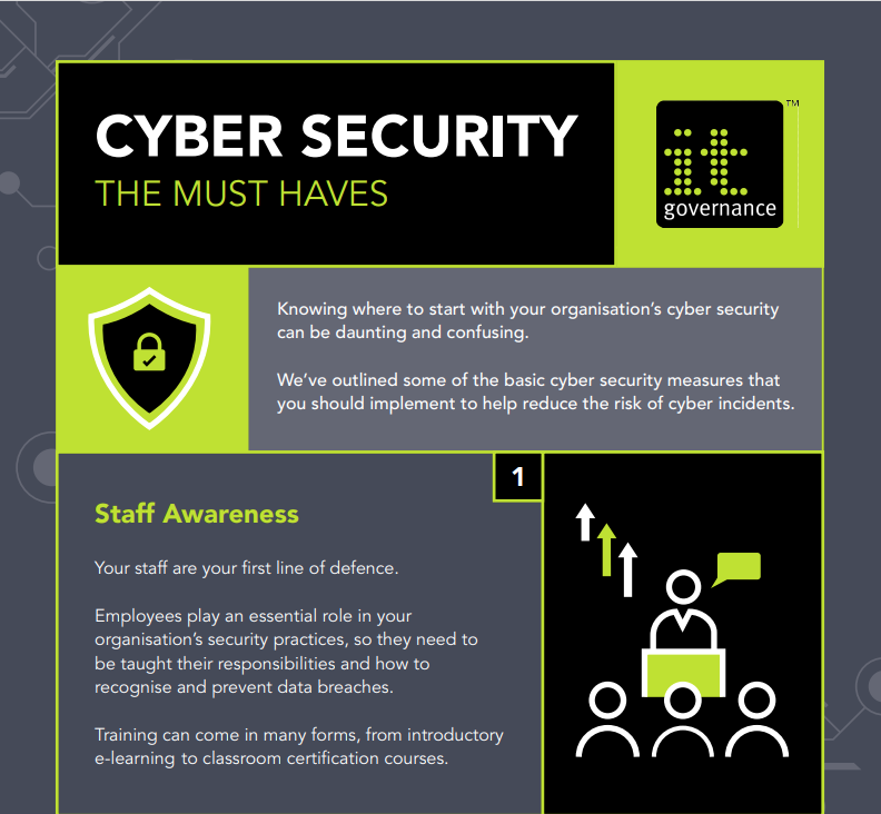 Free Infographic: Cyber Security: The must haves