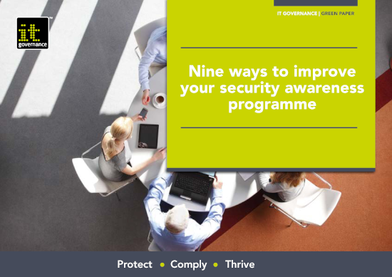 Free pdf download: Nine ways to improve your security awareness programme